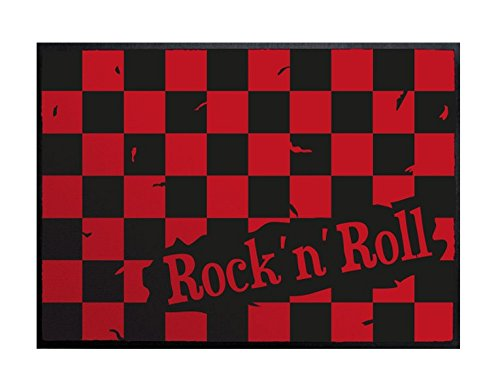 ZERBINO Rock'n' roll a quadri bianchi e rossi, rosso, 70cm x 50cm