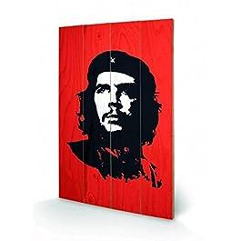 Ernesto Ché Guevara - Portrait, Red Cuadro De Madera (60 x 40cm)