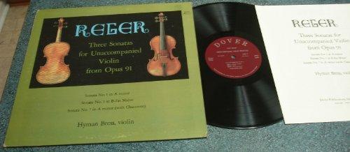 "Hyman Bress ""Reger : Three Sonatas For Unaccompanied Violin From Opus 91"" Lp 1966"