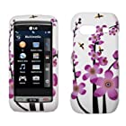 LG Vu Plus GR700 White with Spring Flowers Design Hard Cover Crystal Case