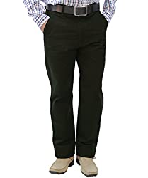 Crocks Club Dark Green Color Cotton Trouser For Men_34