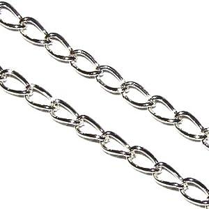 Bead Fanatic 2m Curb Chain ~ 4x5mm ~ Silver Plated