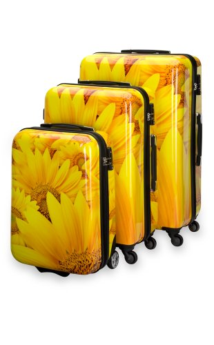 Trolley Koffer Set 3 tlg. – SUNFlOWER – von SuitSuit