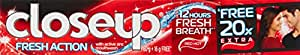 Closeup Fresh Action Red Hot gmel Toothpaste - 80gm (20% Extra) (Sample)