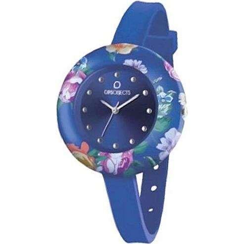 OPUS SYSTEMS OBJECTS OPSFLOWER WATCHES · Armbanduhr | Uhrarmband | Uhrband · blau silber
