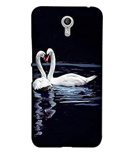 Printvisa Duck Love Pair Back Case Cover for Lenovo ZUK Z1