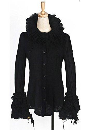 Camicia stile gotico, Y-392 Punk Rave, colore: nero nero Small