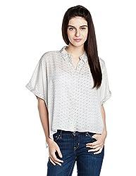 Chemistry Women's Button Down Shirt (C16-673WTSHT_Turkish Ombre_Medium)