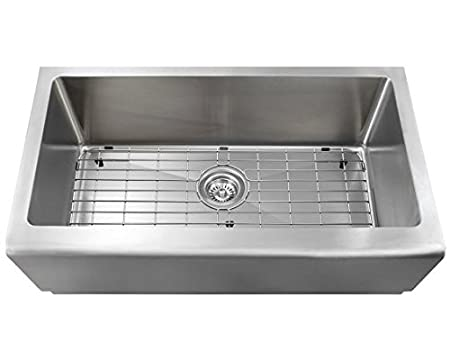 "32.75"" x 20"" Single Bowl Stainless Steel Apron Kitchen Sink"
