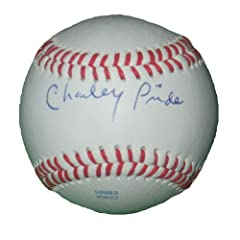 Country Music Legend Charley Pride Autographed Signed ROLB Baseball, Texas Rangers,... by Southwestconnection-Memorabilia