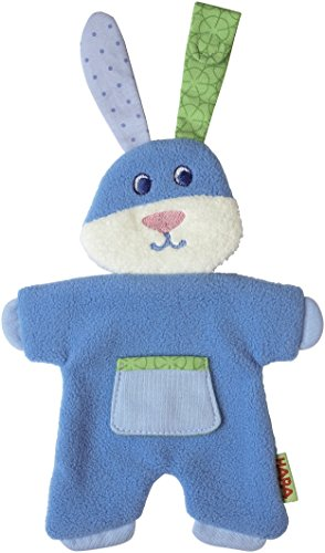 HABA Fleecy Fluffy Pacifier Animal, Blue - 1