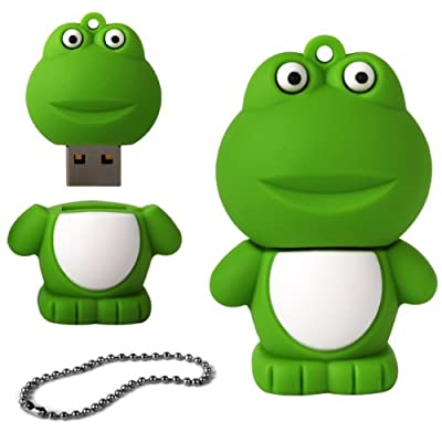 iGloo 8GB Novelty Cute Frog USB 2.0 Flash Drive Data Memory Stick Device - Green by iGloo