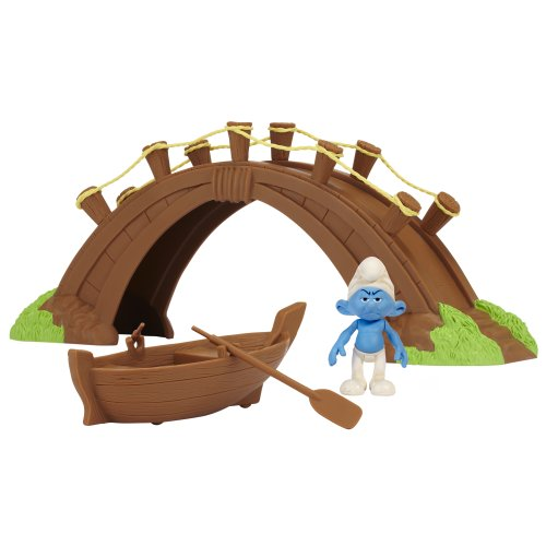 Smurfs Movie Theme/Adventure Gift Packs Wave #1 Smurf In Smurf Village Bridge Theme Set - 1