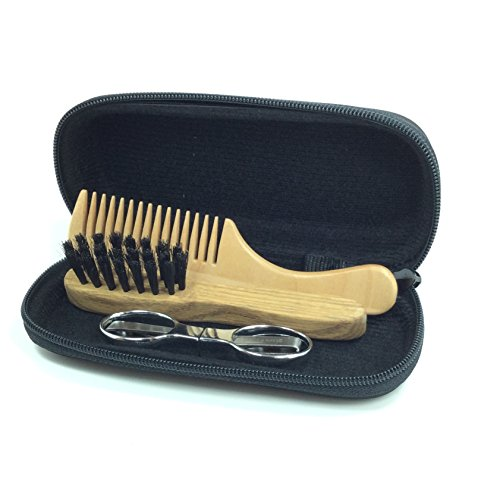 shaving toolz beard and moustache grooming kit with folding scissors health b. Black Bedroom Furniture Sets. Home Design Ideas
