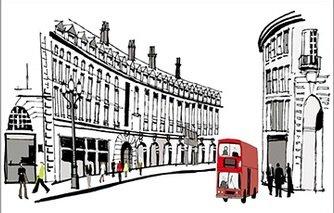 賃貸部屋OK! ヨーロッパ の 街並み ウォールステッカー ウォールペーパー シール 模様替え 剥がせる ロンドン イギリス お洒落 で 可愛い 大きい サイズ