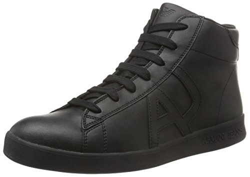 Armani Jeans935566CC500 - Scarpe da Ginnastica Basse uomo, Nero (Black - Schwarz (NERO 00020)), 44