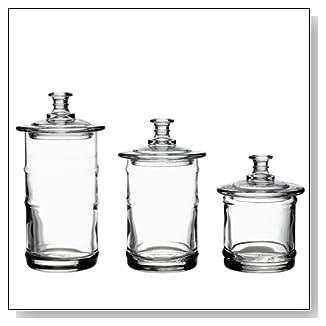 La Rochere French Glass Kitchen Apothecary Jar Set