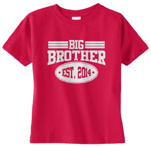 Threadrock Baby Boys' Big Brother 2014 Infant T-Shirt 24M Red front-1031669