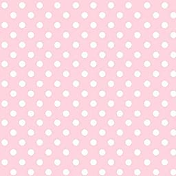 SheetWorld Fitted Stroller Bassinet Sheet - Pastel Pink Polka Dots Woven - Made In USA