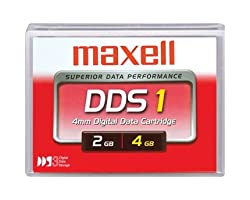 Maxell 331910 - 1/8 DDS-1 Cartridge, 90m, 2GB Native/4GB Compressed Capacity-MAX331910 - New