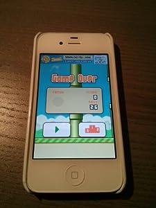 White iPhone 4 with Flappy Bird app! Verizon