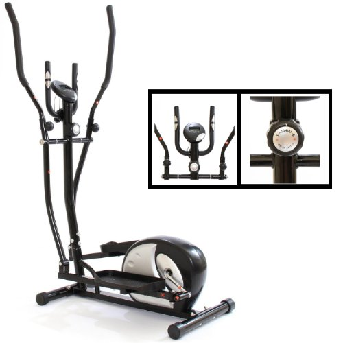 Gym Master Eliptical Cross Trainer for Cardio (5kg Flywheel) - Black and Silver