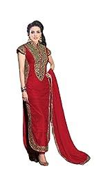 RAMAPIR CRATION RED DRESS MATRIAL 03