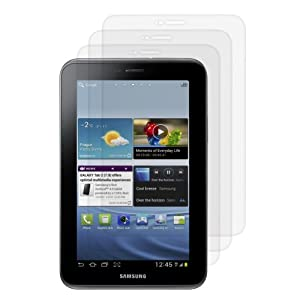 3 x films de protection transparent pour écran Samsung Galaxy Tab 2 7.0 P3110 + 3 x chiffons de nettoyage GRATUITS