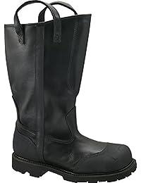 Women's Thorogood 14 inch Structural Firefighting Oblique Steel Toe Waterproof Bunker Boots