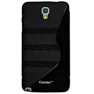 Casotec S-Wave Anti-skid Soft TPU Back Case Cover for Samsung Galaxy Note 3 Neo - Black