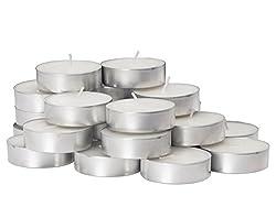 Pindia Fancy Plastic Tea Lights (19.6 cm x 19.6 cm x 3.6 cm, Set of 50)