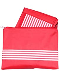 Stylish Tote Bag With Pouch Combination Of 2 By Snoogg Red Colour