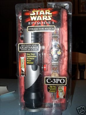 C3PO Watch in Lightsaber case