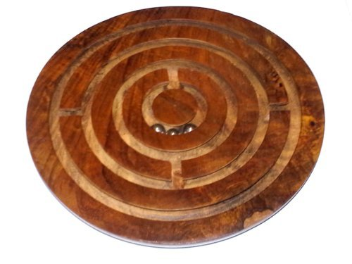 Wooden Labyrinth Board Game - 1