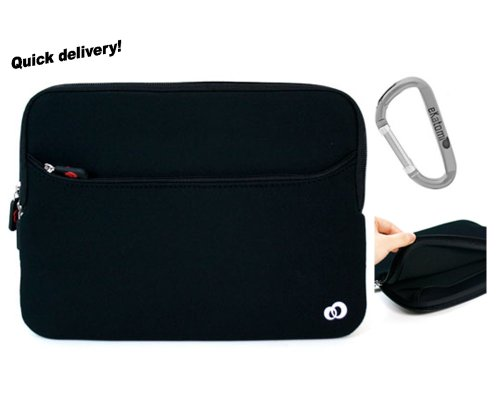 Coloured and Black Laptop Sleeve Case for 17 Sony VAIO VGN-AW235J Notebook. Hand-out Ekatomi screen cleaner sticker.