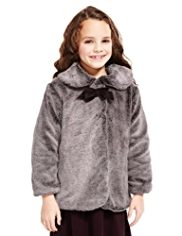 Autograph Faux Fur Coat
