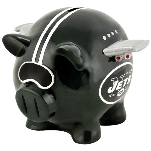 NFL New York Jets Resin Large Thematic Piggy Bank at Amazon.com