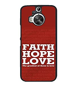 printtech Love Quotes Cool Back Case Cover for HTC One M9 Plus