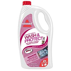 BISSELL Wash and Protect Pet Stain and Odour Carpet Cleaning Solution with Scotchgard