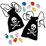 Pack of 4 - Suede Pirate Drawstring B...