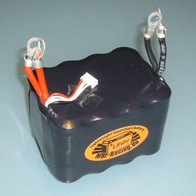 "MBF-Racing LiFePo4 Motorrad-Batterie 13,2V 7,5Ah ab 1000ccm NEU: ""V3"" - ultraleichtes 1:1 Replacement für Bleibatterien!"