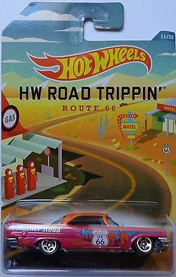 Hot Wheels HW Road Trippin' 1957 Chrysler 300 Pink/Orange Roof #11/32