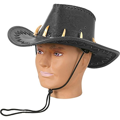 Adult Men's Black Crododile Dundee Costume Hat
