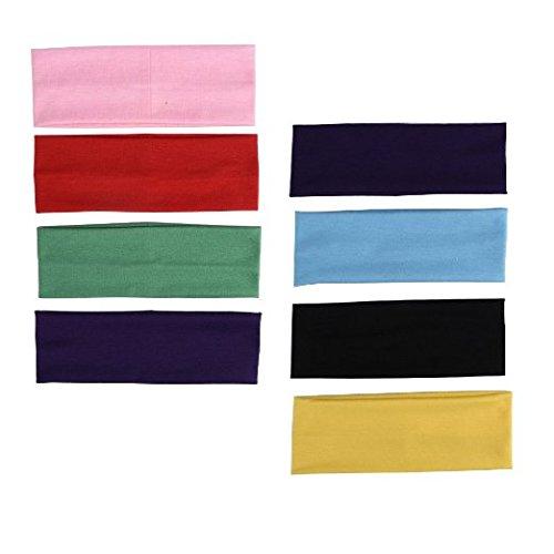 Ellami 10PCS Stretchy Cotton Yoga Headband (Colorful) (E Gift Card Ebay compare prices)