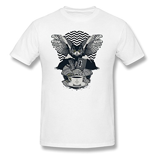 Sept Men's Twin Peaks Tv Art T-shirt White (Twin Peaks Clothes compare prices)