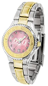 Oklahoma State Cowboys Competitor Ladies Watch with Mother of Pearl Dial and Two-Tone... by SunTime