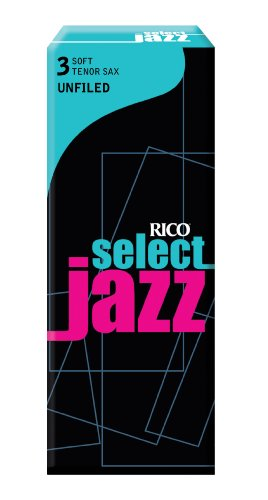 Rico Select Jazz Tenor Sax Reeds, Unfiled, Strength
