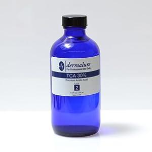 Trichloro Acetic Acid - TCA Peel 30% 8oz. 240ml Pro Size (Level 2 pH 1.0) from Dermalure