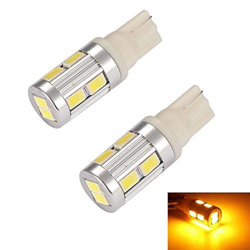 Mudder® 2Pcs Set T10 10 Smd 5730 Led Warm White Light Car Signal Wedge Tail License Plate Reading Lamp Bulbs