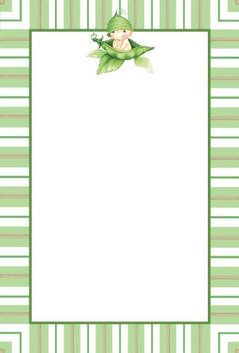 Sweet Pea 1st Birthday Imprintable Invitations (10 count)